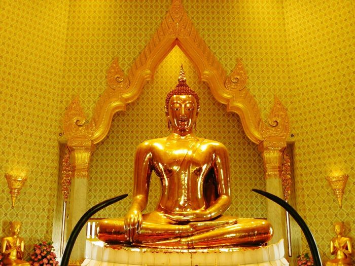 Gold Colored Indoors  Gold Statue No People Illuminated Close-up Day Arts Culture And Entertainment Tourism Budha Temple Budhasculpture Religion Gold Travel Destinations