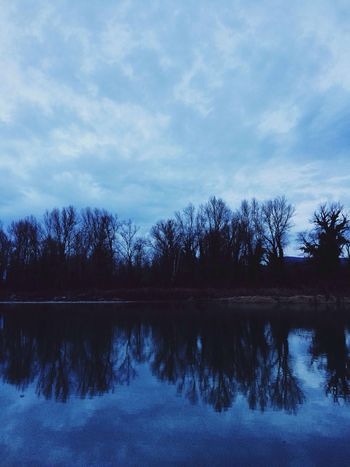 Outdoors Tree Reflection Water Nature Tranquility Sky Beauty In Nature Lake Tranquil Scene Symmetry Cloud - Sky