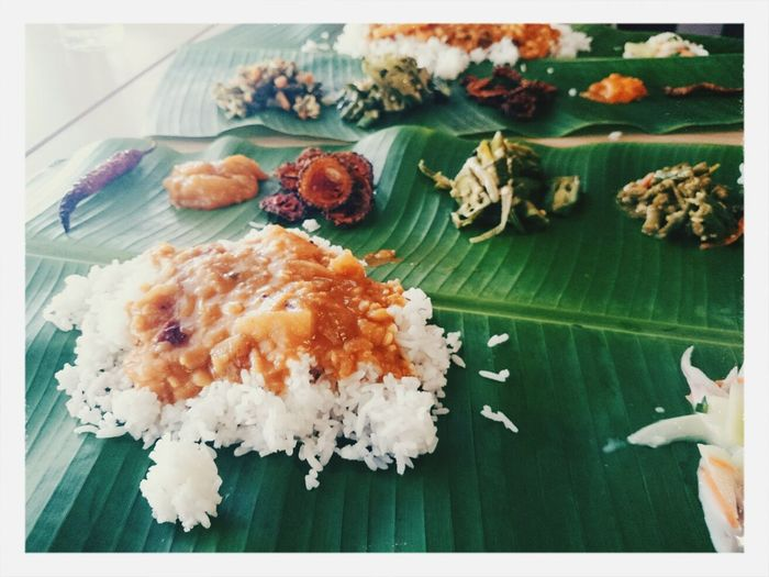 Food Banana Leaf Indian Food Spicy