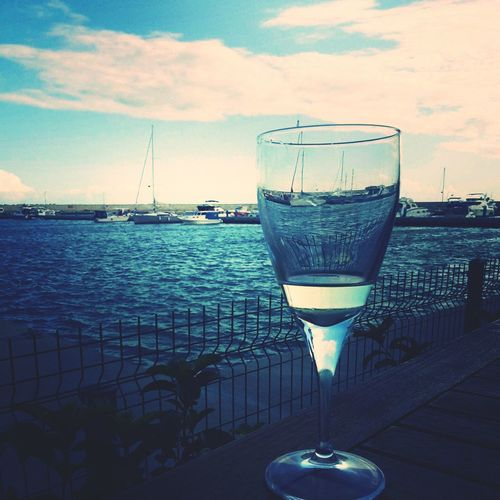 Whitewine Marina Relaxing Enjoy Life