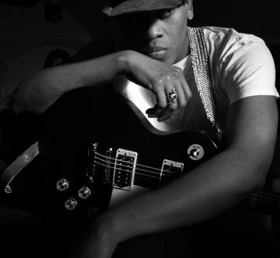 Portrait Guitar Self Portrait Shadow And Light Blackandwhite EyeEmNewHere