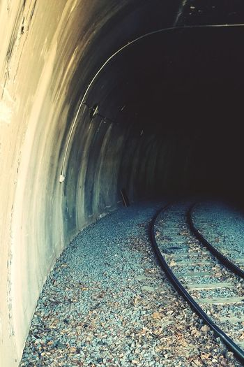 Darryn Doyle Check This Out Train Tracks Tunnel Cold Temperature Concentric Tunnel Underground Empty Road