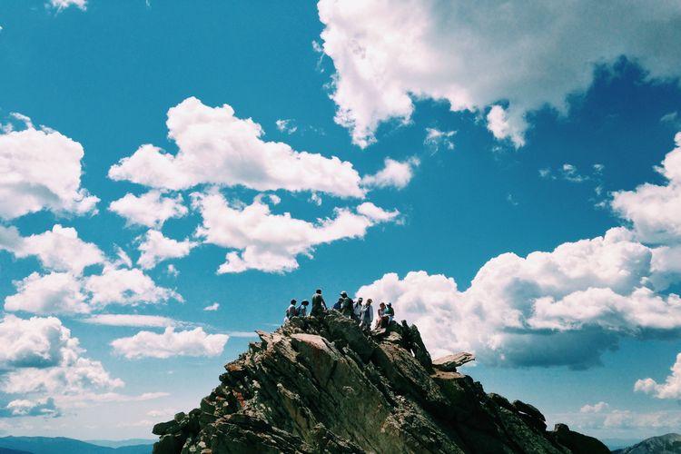 EyeEm Selects Mountain Adventure Silhouette Climbing Full Length Sky Cloud - Sky Landscape