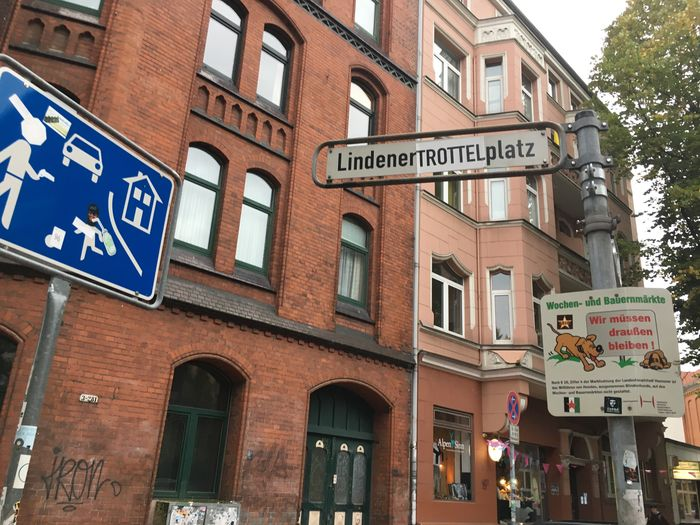 Lindener Marktplatz Street Art Hannover Hipster Style Building Exterior Architecture Built Structure Text Road Sign Communication Day Outdoors City No People