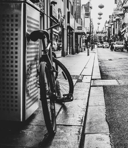 Ready to ride Architecture Bicycle Building Exterior Built Structure Car City City Life City Street Day Land Vehicle Mode Of Transport No People Outdoors Stationary Street Transportation