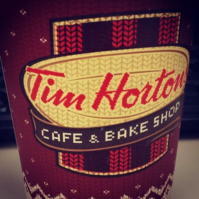 My first taste of Tim Horton's... It won't be my last!!! Timhortons Pennstation Frenchvanilla Cappuccino fancydrinks mymorningcommute holidays warmwishes HappyThanksgivingEve