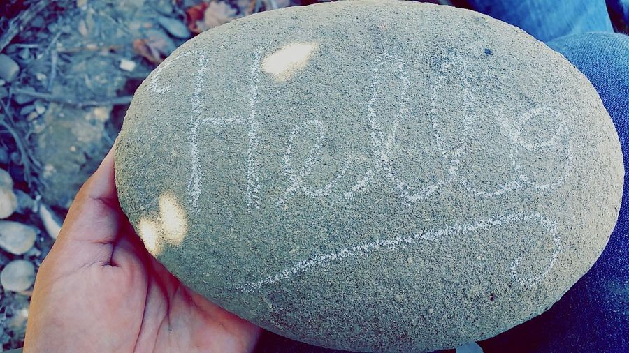 Writing Rocks Hello Flatrock Hiking Trail Handwriting