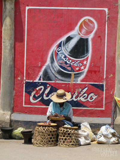 Seller to the street of Antsirabé Adults Only Antsirabe Coca Cola Cocacola Madagascar  Madagascar People One Person Outdoors