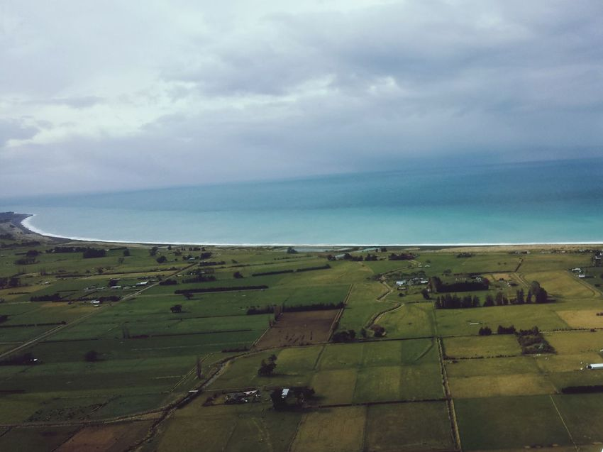 Cloud Beauty In Nature Tranquil Scene Canterbury Canterbury Plains Kiakoura Horizon Over Water Sea High Angle View Birds Eye View