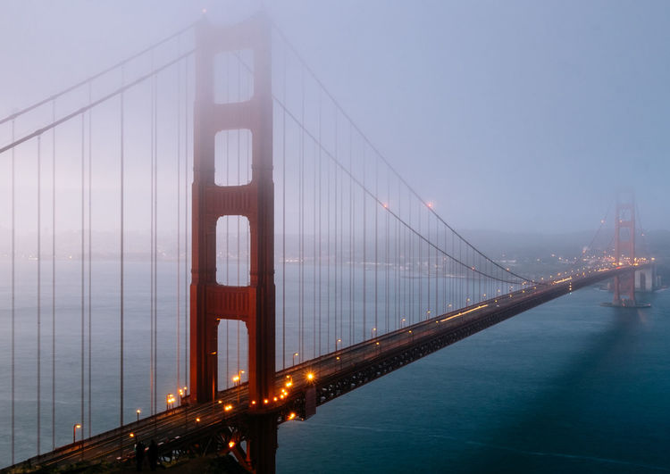 Architecture Bridge Bridge - Man Made Structure Bridges Built Structure Cable-stayed Bridge City Cityscape Connection Famous Place Golden Gate Bridge Golden Gate Bridge International Landmark San Francisco SF Steel Cable Sunrise Suspension Bridge Tourism Travel Twilight Wide