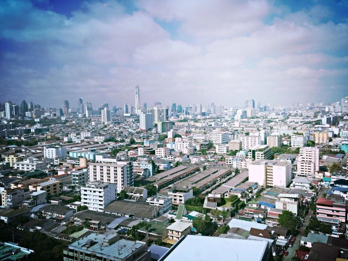 Bangkok scape Bangkok View High Building Thailand Morning Bright Sun Sunnyday
