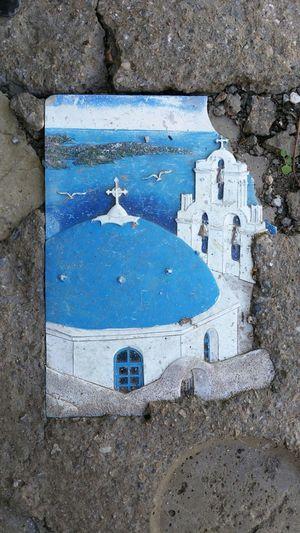 Floor,Island of Kos Holiday Island Of Kos Decor Tiles With Greec Church As Motive Art Is Everywhere