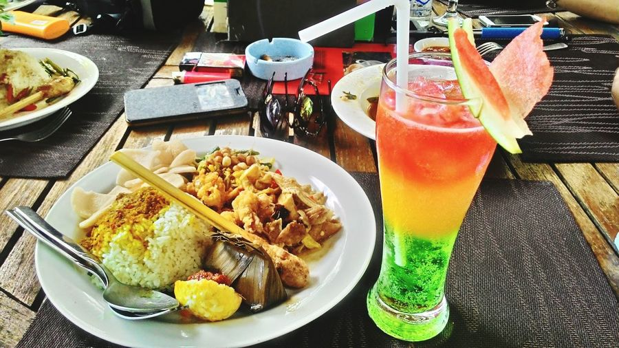 Nasi campur n rainbow... Lunch Food Spicy Rice