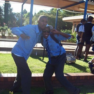 "Lol I love the energy @jaxxtheart and Thomas give when they hola at me. ""MAHEEEEEEZY!"" Latepost TBT  Matric08"