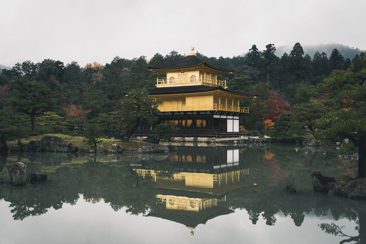 Golden Kinkaku-ji temple in Kyoto, Japan ASIA Autumn Gold Golden Golden Temple Japan Kinkakuji Temple Lake Huron Reflection Temptation Tradition Traditional House Architecture Building Exterior Built Structure House Kansai Kinkakuji Kyoto Kyoto,japan Reflection Samurai Tree Water Waterfront The Traveler - 2018 EyeEm Awards