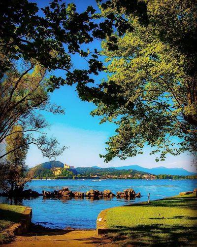 Lago maggiore,Arona Water Lake Landscape Italy