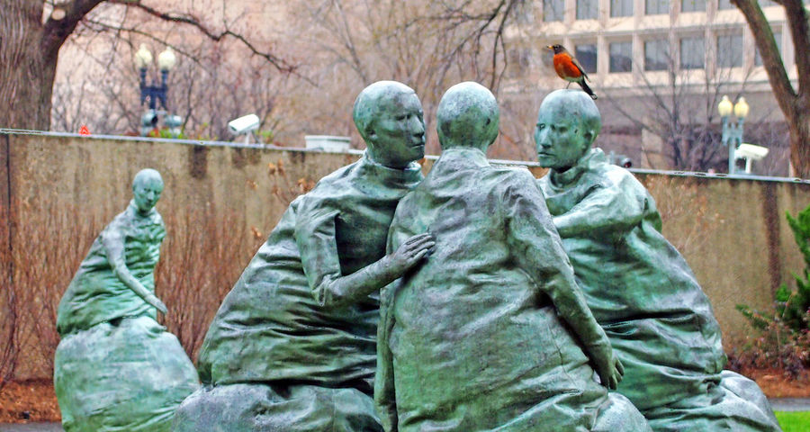 Hirshhorn Museum , Washington DC USA Sculpture Statue Day Human Representation Art And Craft Male Likeness Hirshhornmuseum Washington, D. C. Robin Bird Robin Redbreast Bird Green Color Museum Hirshhorn