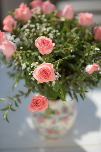 Bunch Of Flowers Bunch Or Rose Close-up Flower Flower Head Freshness Pink Color Pink Rose
