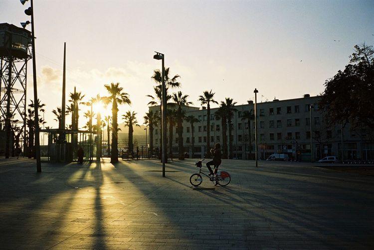35mm Film Film Kodak Portra Barcelona Streetphotography Winter Sunshine Relaxing Bicycle Sunset