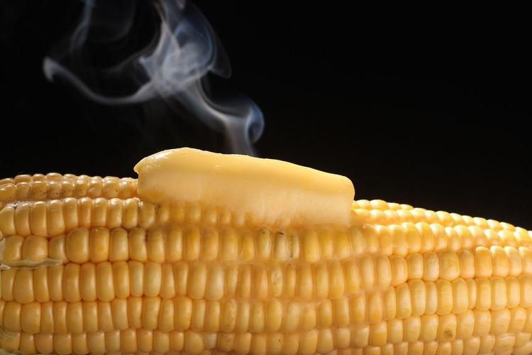 Close-up Of Butter On Corn On Cob