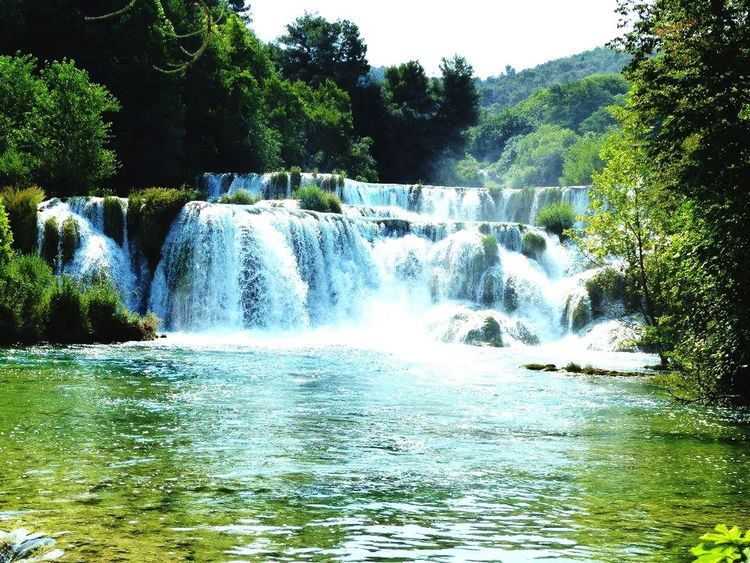 Let's bring the summer back !!!! Crotia Waterfall Summer Beautiful Landscape View Swimming