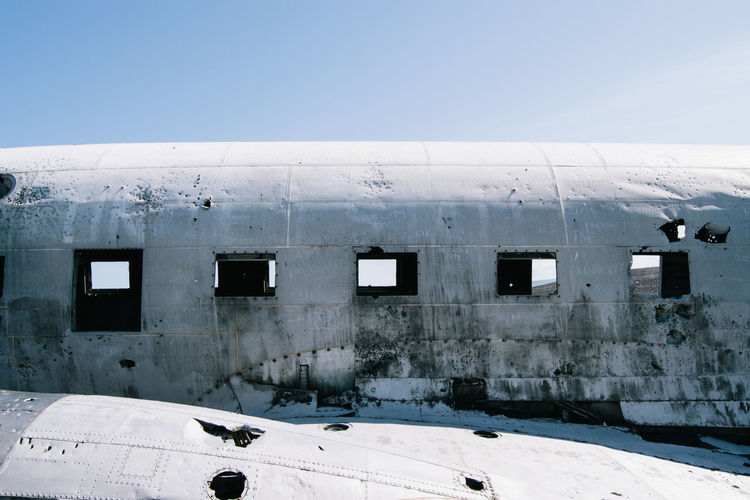 Exterior of abandoned airplane
