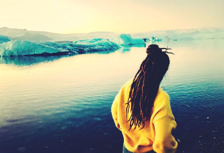 Let your gypsy soul guide you RASTA Girls Glaciar Iceland DreadStyles  Dreadlocks Travel Love Water Sky Real People Lifestyles One Person Beauty In Nature