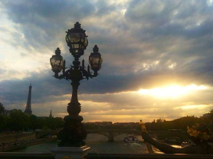 Beauty In Nature Clouds And Sky Sky View Point Sunset Tranquility Cityscape Seine Pont Alexander III Pont Alexandre III Paris, France