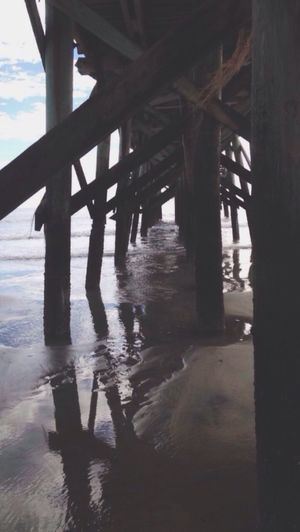 IOP Peir Architectural Column Underneath Water Built Structure Architecture Day Nature Outdoors Below No People Sky Bridge - Man Made Structure Peir
