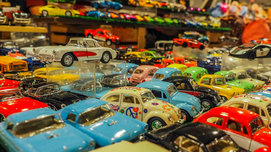Car Models... Abundance Choice Close-up Collection Day Indoors  Large Group Of Objects Multi Colored No People Toy Car Variation