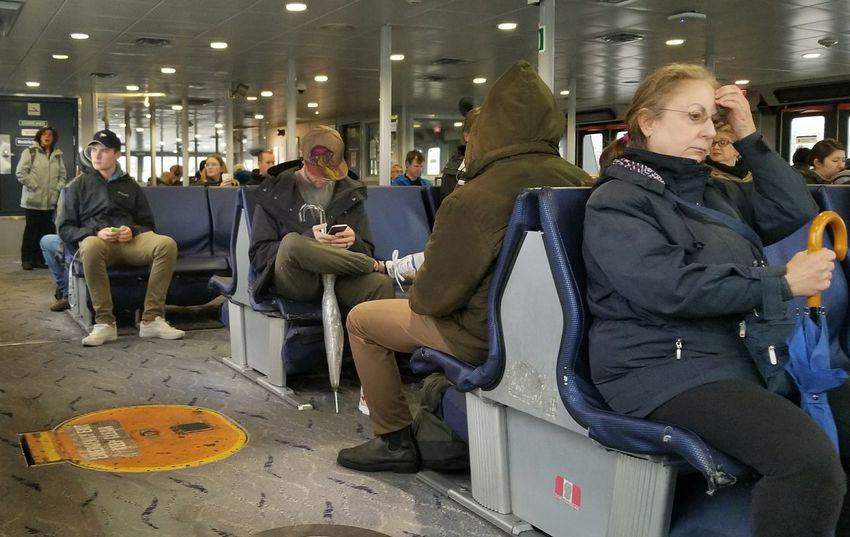 Sea Bus Mature Adult People Indoors  EyeEmNewHere Canada Vancouver B.C. Vancouverbc