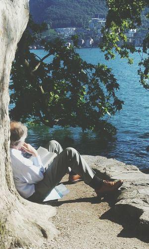 Man Random(: Reading & Relaxing Lake View photo taken by me