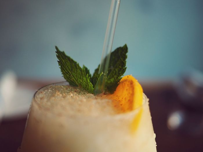 Close-Up Of Cocktail Served In Glass