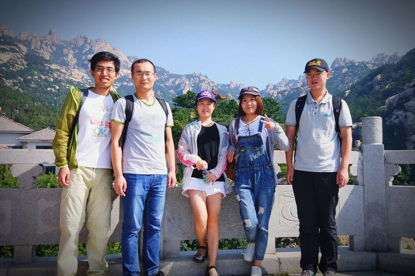 Friends 崂山 Happy Mountain Enjoying Life