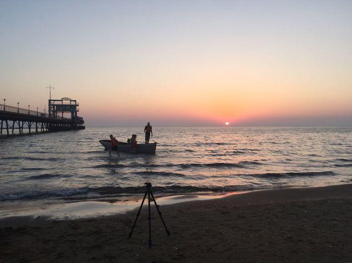 Sunset Sea Beach Water Horizon Over Water Beauty In Nature Nature