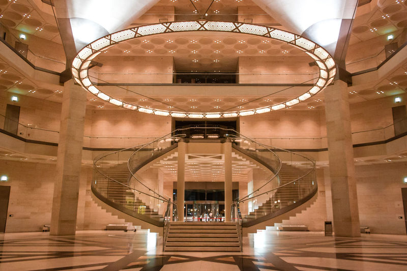 EyeEm Selects Architecture that speaks culture. Architecture Indoors  No People Built Structure Wallpaper Qatar View Building Urban History Culture Art Stairs Spaces The Architect - 2018 EyeEm Awards