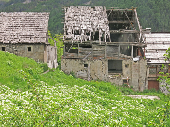 Abandoned Abandoned Buildings Abandoned Places Architecture Brousson Built Structure Day Field Grass Grassy Green Green Color Growth Landscape Nature No People Old Buildings Old House Outdoors Rural Scene