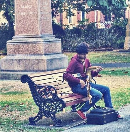 The player. Musician Instruments Musical Instruments People Watching Shot With Love Tadaa Community Bagpipes Park Life