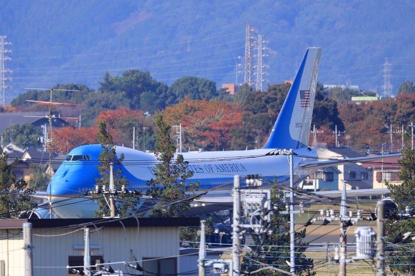 トランプ大統領来日 エアフォースワン 横田基地 YokotaAirBase FUSSA 150-600 Sigma Trump