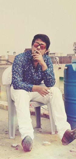 Rooftop GolDleaF Smoking Kills Smoke Enjoying Life Basant Glasses