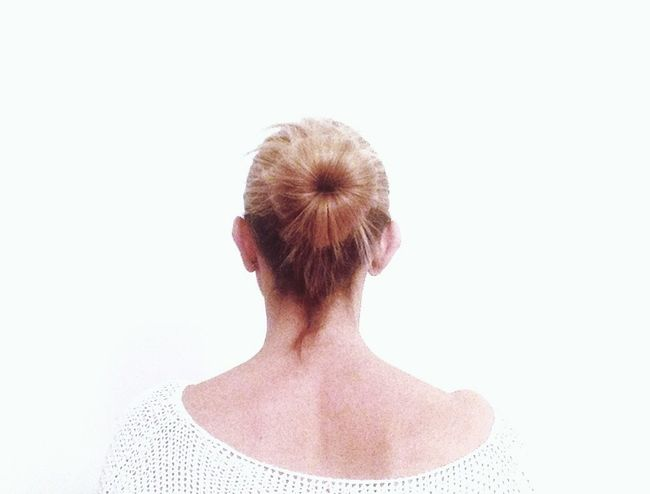 Back... Getting Inspired Exceptional Photographs The Portraitist - 2018 EyeEm Awards The Still Life Photographer - 2018 EyeEm Awards The Creative - 2018 EyeEm Awards One Person Hair Bun Studio Shot Headshot Rear View Copy Space Portrait Adult Women Hair Hairstyle Indoors  White Background Young Adult Brown Hair Wellbeing Cut Out Freshness Human Hair Beautiful Woman