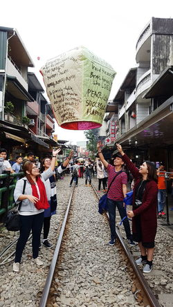 Wishing on a sky lantern in Taiwan 😀 Adult Outdoors Sky People Pray Hopes And Dreams Hopeful Wish Positive Vibes Wealth Believe Lantern Fly Sky Lantern Taiwan Travel Destinations Travel Scenics Water Travel Photography