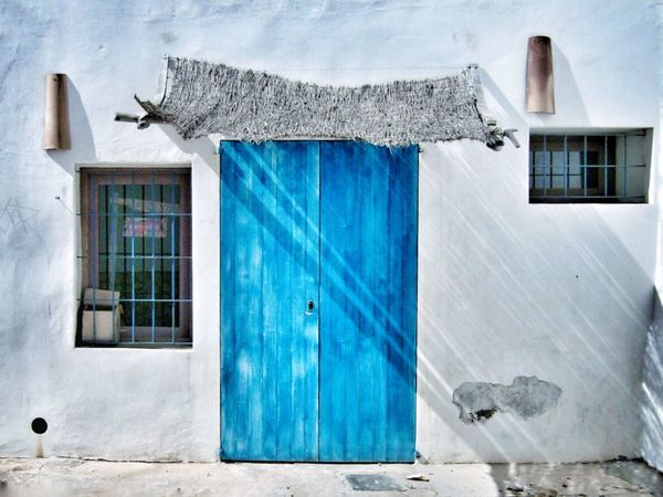 Showcase March Door Window Formentera White Blue Building Architecture Colors Bestphoto Emeye Travel