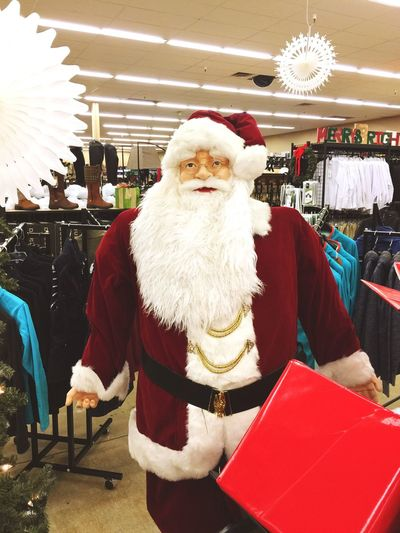 Santa hanging out while we shop... Indoors  Santa Hat Christmas Retail  Standing Tradition Beard Front View Holiday - Event Store Big Dees Streetsboro Saint Nicholas Shopping Christmas Decoration Tradition Winter Portrait One Person Day