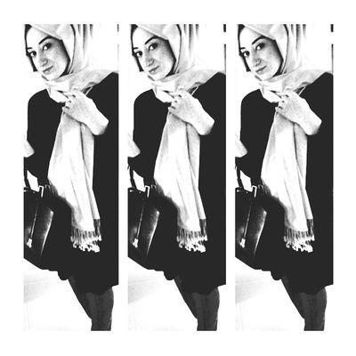 Blackandwhite Hijabstyle  Kolaj
