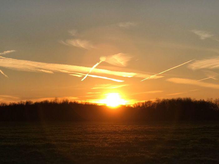 Lovely sunset this evening Sunset Sunset_collection Landscape Sky Sun_collection Sky_collection
