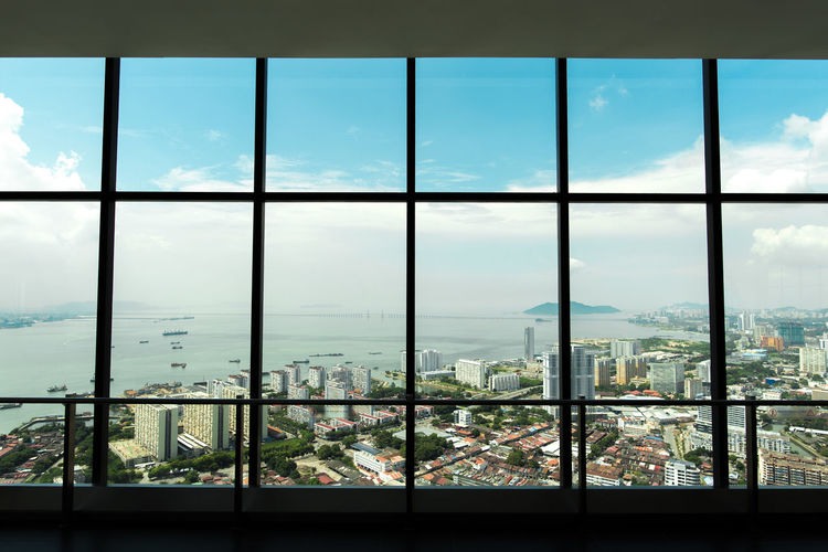 View from The Top Penang George Town, Penang, Malaysia Penang The Top  Architecture Building Built Structure City Cityscape Cloud - Sky Glass - Material High Floors Indoors  Komtar No People Penang Bridge Residential District Tourism Transparent Travel Destinations View From Above Window Window Frame