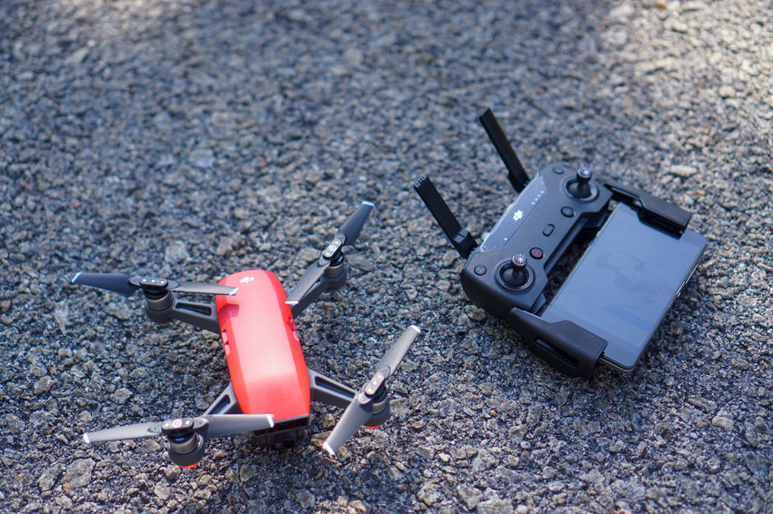 The new DJI Spark red color Crash Drone  GPS NO FLY ZONE Red Tree Aerial Photography Aerial View Dji Dji Spark Dronephotography Glonass Hovering Landscape Remote Controller Spark Sunrise Sunset Wifi