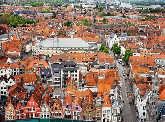 Close-up Pattern Houses Scenics Belfort Viewfromabove Brugge Cloud - Sky Sky City Architecture Building Exterior Outdoors Day Cityscape History