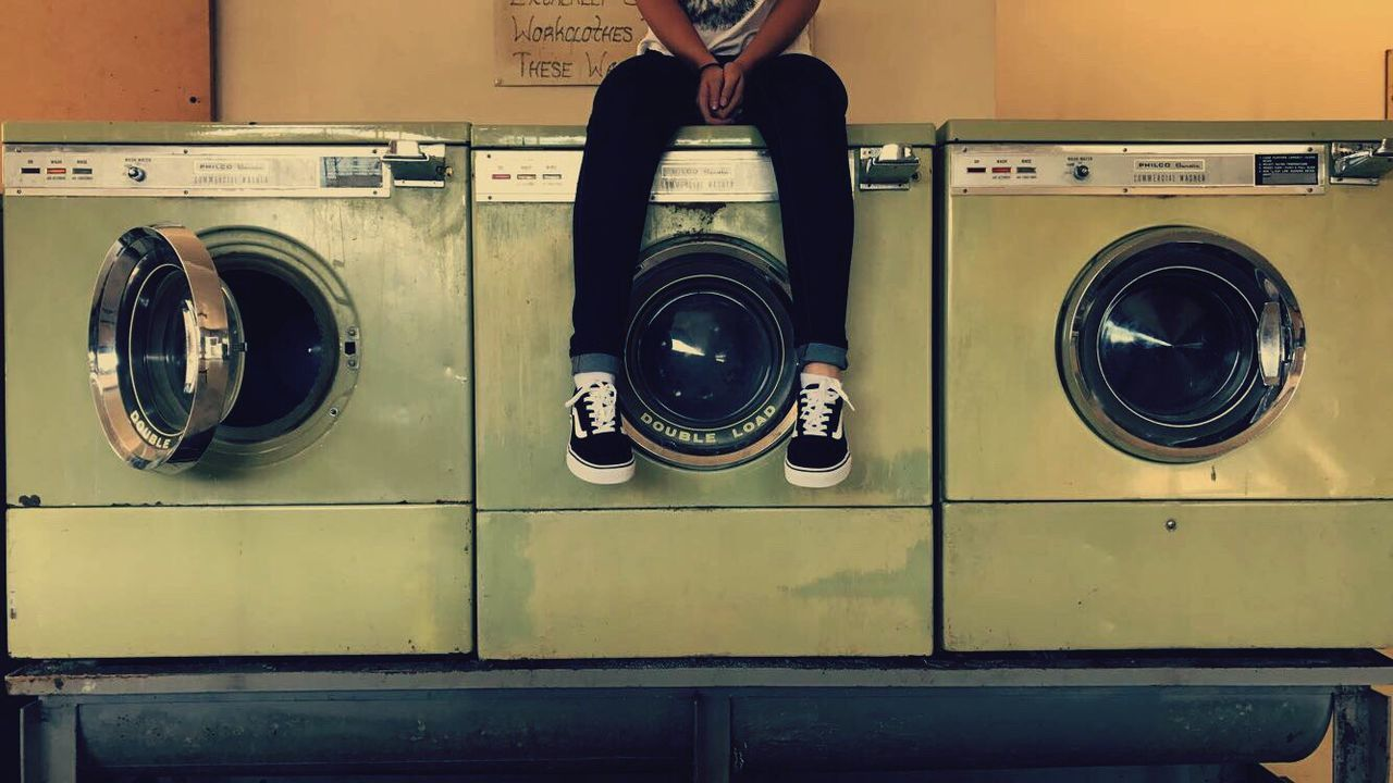 washing machine, laundry, laundromat, dryer, machinery, indoors, domestic life, hygiene, drying, convenience, washing, self service, chores, technology, appliance, cleaning, responsibility, close-up, no people, day
